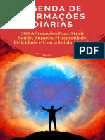 Agenda de Afirmações Diárias 365 Afirmações Para Atrair Saúde, Riqueza, Prosperidade, Felicidade E Usar a Lei Da Atração by Ryan Jones