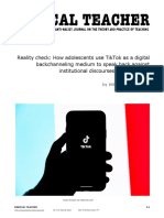 TikTok as a digital backchanneling medium to speak back against institutional discourses of school(ing)