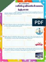 FICHA DE APLICACIÓN - PROBLEMAS DE ADICIÓN Y SUSTRACCIÓN HASTA 99 999