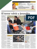 El terror volvió a Jerusalén