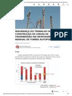 SEGURANÇA DO TRABALHO NA CONSTRUÇÃO DE LINHAS DE TRANSMISSÃO NA MONTAGEM MANUAL DE TORRES AUTOPORTANTES _ LinkedIn
