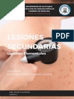 LESIONES ELEMENTALES SECUNDARIAS- MICHELLE HERNÁNDEZ - GRUPO 2