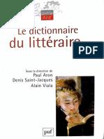 Dictionnaire du littéraire - Critique littéraire