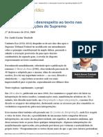 André Karam Trindade - Umberto Eco e o desrespeito ao texto nas superinterpretações do STF