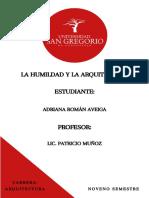 EL ARQUITECTO Y LOS VALORES MORALES (1)