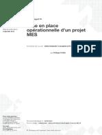 Mise en place opérationnelle d'un projet MES