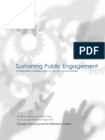 Sustaining Public Engagement