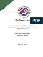 2017 TESIS Sindrome Metabolico en Estudiantes de Enfermeria en Lima