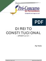 Noções de Direito Constitucional 01 - Cordeir