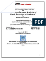Business Process Analysis of Kotak Securities