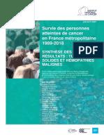 Etude sur la survie des personnes atteintes de cancer en France métropolitaine 1989-2018