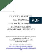 PAU Zaragoza Tecnología Industrial II. Ejercicios Resueltos NeumaticaHidraulicaDesde2004