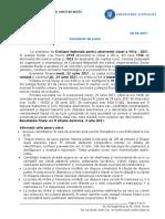 Comunicat de presă, Evaluare Națională 2021 (1)