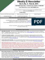 Newsletter 2-22-2011