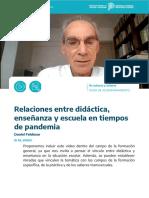 Feldman_Relaciones Entre Didactica Enseñanza y Pandemia