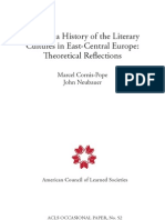History of the literary cultures in eastern Europe