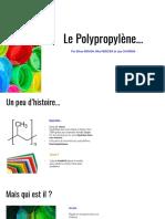 Le polypropylène...