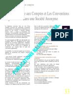 Le commissariat aux comptes et les conventions réglementées dans une SA