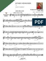 [Free Scores.com] Mozart Wolfgang Amadeus Les Sonatines Viennoises Saxophone Baryton 56191