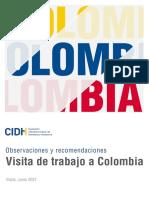 2021-06 CIDH - Observ Visita a Colombia SPA
