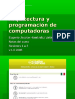Arquitectura y programación de computadoras (1-3)