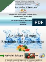 Actividad Del Agua y Actividad de Los Alimentos