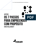7 PASSOS PARA EMPREENDER COM PROPÓSITO - KIKO KISLANSKY