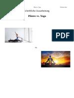Pilates vs. Yoga Schriftliche Ausarbeitung