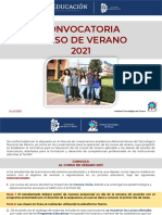 Convocatoria Curso de Verano 2021