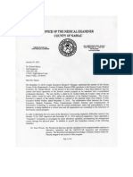 Nassau Crime Lab Medical Examiners Report