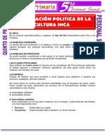 Organización Politica de La Cultura Inca Para Quinto de Primaria