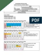 Calendário 2019 Médio e Técnico- GERAL