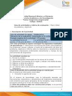 Guia de actividades y Rúbrica de evaluación - unidad 1-Fase 2-Elaborar un árbol de problema y objetivos