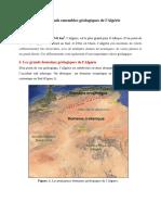 Cours 9 Les Grands Ensembles Géologiques de l'Algérie