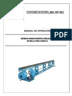 Manual Operacion Dobladora