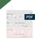 Acta Notarial de Arresto Domiciliario - Fidencio Rodríguez