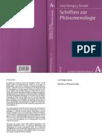 ORTEGA Y GASSET, Jos_ - Schriften zur Phaenomenologie.compressed