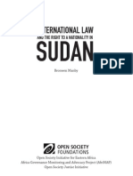International Law and the Right to a Nationality in Sudan
