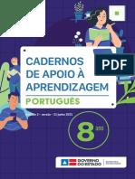 3ª unidade 8º ano Bahia Português Caderno de Apoio ano 2020/2021
