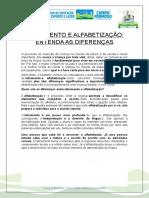 ALFABETIZACAO E LETRAMENTO, ESPAÇO ALFABETIZADOR E SUGESTÕES DE ATIVIDADES POR NÍVEL DE ESCRITA