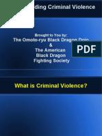 Understanding Criminal Violence
