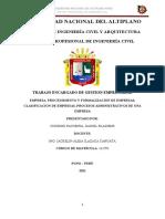 GESTION EMPRESARIA TRABAJO DANIEL CONDORI PACOMPIA 142795