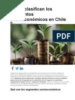 Así Se Clasifican Los Segmentos Socioeconómicos en Chile