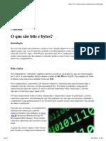 O que são bits e bytes_