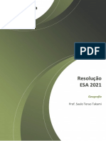 Geografia.resolução ESA 2021