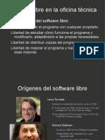 Software libre en la oficina técnica.