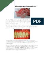 Resinas acrílicas para prótesis dentales