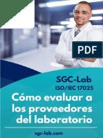 Cómo evaluar a los proveedores del laboratorio
