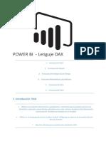 POWER BI  - Lenguje DAX