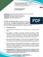 ALEGATOS DE CONCLUSIÓN DDA ELECTORAL ARACATACA